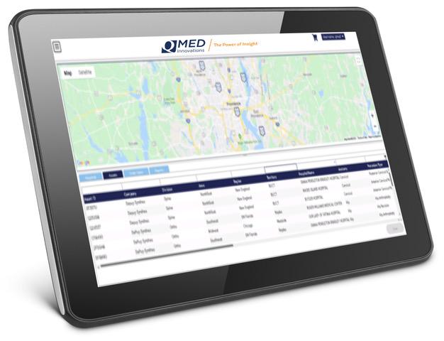 QMed Innovations medical device kit analytics